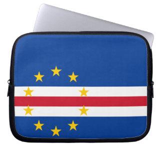 Bandera de Verdian del cabo Fundas Portátiles