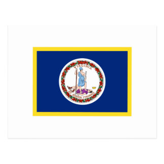 Bandera de Vermont del borde del oro Postales