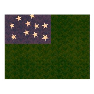 Bandera de Vermont del modelo del vintage Tarjetas Postales