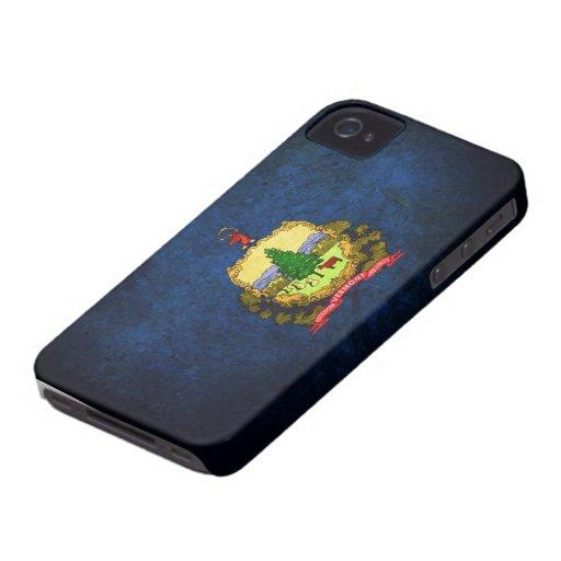Bandera de Vermont iPhone 4 Case-Mate Coberturas