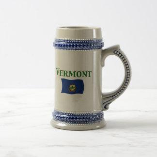 Bandera de Vermont Jarra De Cerveza