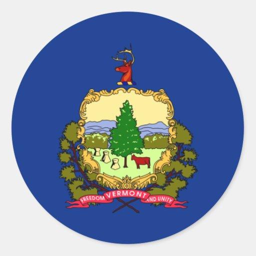Bandera de Vermont Pegatinas Redondas