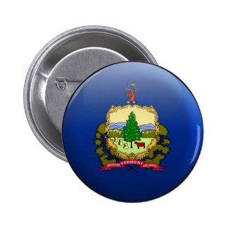 Bandera de Vermont Pin Redondo 5 Cm