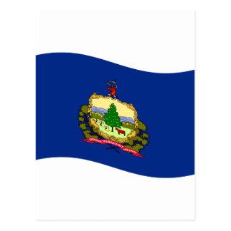 Bandera de Vermont que agita Tarjeta Postal