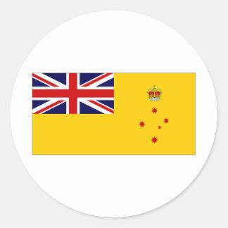 Bandera de Victoria del gobernador de Australia Pegatina Redonda