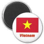 Bandera de Vietnam con nombre Imán