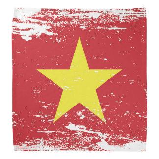Bandera de Vietnam del Grunge Bandanas