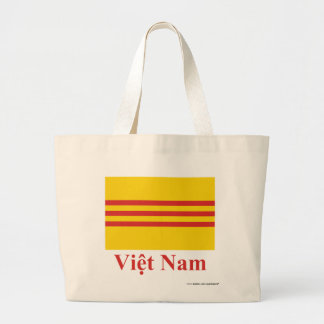 Bandera de Vietnam del sur con nombre en vietnamit Bolsa Tela Grande