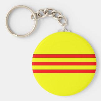Bandera de Vietnam del sur Llavero Redondo Tipo Pin