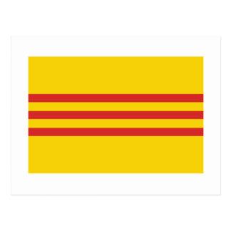 Bandera de Vietnam del sur Tarjetas Postales