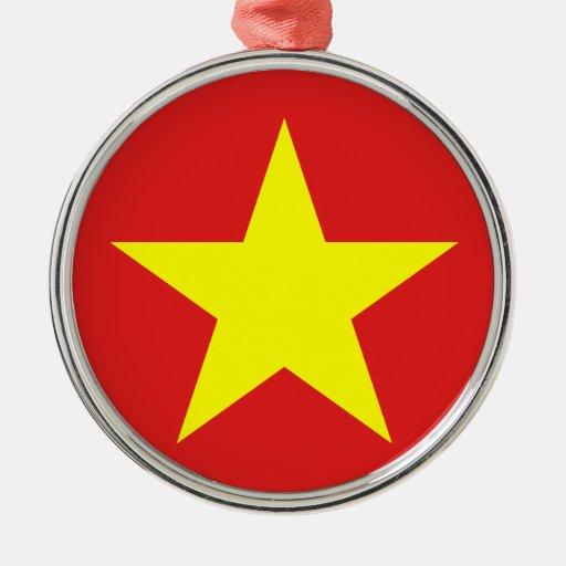 Bandera de Vietnam - estrella amarilla - Adorno Para Reyes