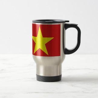 Bandera de Vietnam - estrella amarilla - Tazas