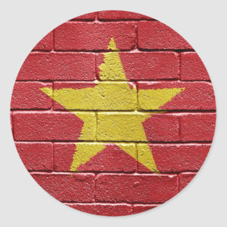 Bandera de Vietnam Etiquetas Redondas