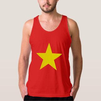 Bandera de Vietnam - la ropa de los hombres - Playeras De Tirantes