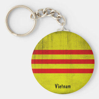 Bandera de Vietnam Llavero Redondo Tipo Pin