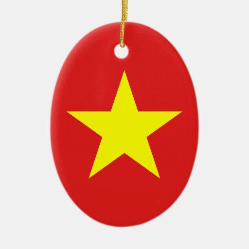 Bandera de Vietnam - ornamento Ornamento Para Reyes Magos