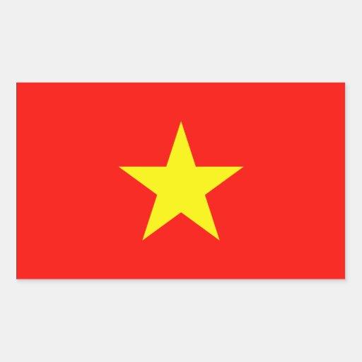 Bandera de Vietnam Pegatina Rectangular