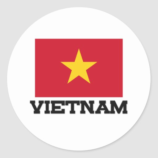 Bandera de Vietnam Pegatinas Redondas