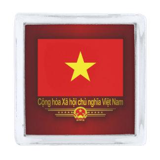 Bandera de Vietnam Pins Plateados