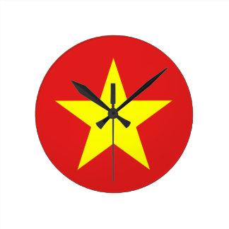 Bandera de Vietnam - reloj de pared
