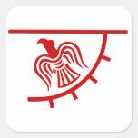 Bandera de Viking Eagle Pegatinas Cuadradas Personalizadas