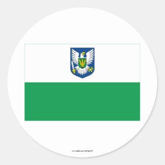 Bandera de Viljandi Pegatina Redonda