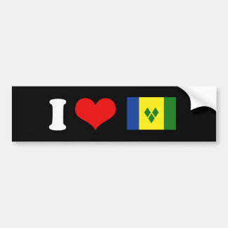 Bandera de Vincent de santo Etiqueta De Parachoque