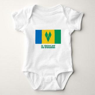 Bandera de Vincent de santo con nombre Mameluco De Bebé