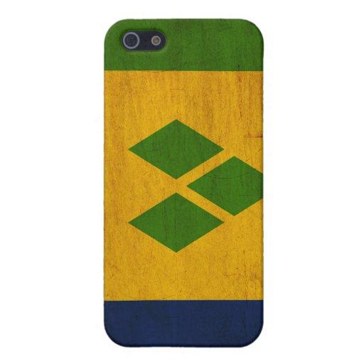 Bandera de Vincent de santo iPhone 5 Fundas