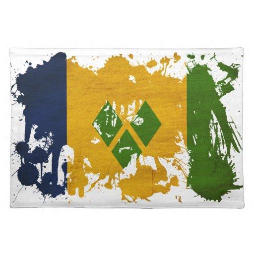Bandera de Vincent de santo Manteles Individuales