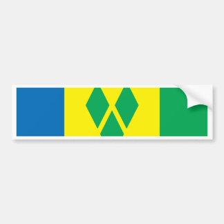 Bandera de Vincent de santo Pegatina Para Auto