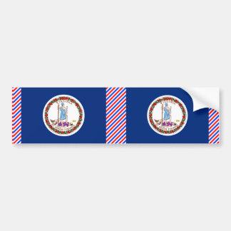 Bandera de Virginia Etiqueta De Parachoque