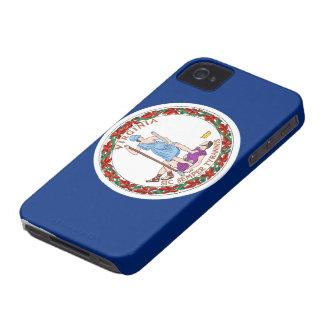 Bandera de Virginia iPhone 4 Case-Mate Cárcasa