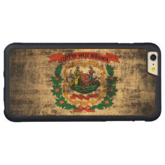 Bandera de Virginia Occidental del Grunge del Funda De Arce Bumper Carved® Para iPhone 6 Plus