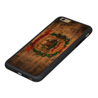 Bandera de Virginia Occidental del Grunge del Funda De Cerezo Bumper Carved® Para iPhone 6 Plus
