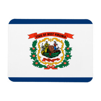 Bandera de Virginia Occidental Imán Rectangular
