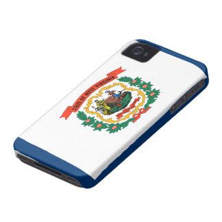 Bandera de Virginia Occidental iPhone 4 Carcasas