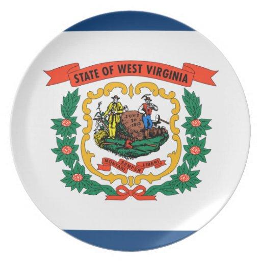 Bandera de Virginia Occidental Platos De Comidas