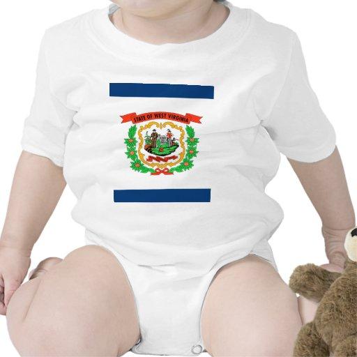 Bandera de Virginia Occidental Traje De Bebé