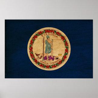 Bandera de Virginia Poster