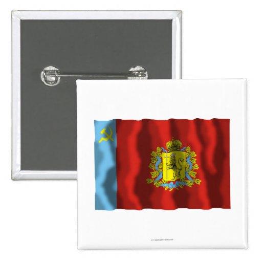 Bandera de Vladimir Oblast Pins