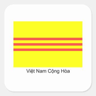 Bandera de VNCH Pegatina Cuadrada