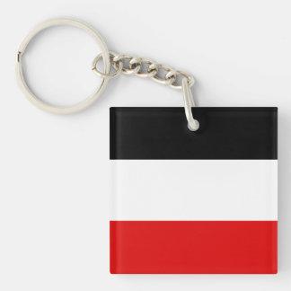 Bandera de Volta superior Llavero Cuadrado Acrílico A Doble Cara