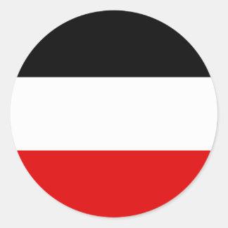 Bandera de Volta superior Pegatina Redonda
