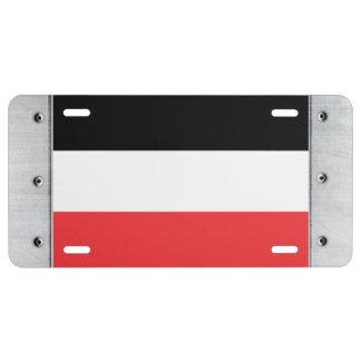 Bandera de Volta superior Placa De Matrícula