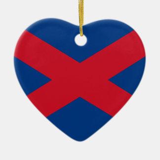 Bandera de Voortrekker Adorno Navideño De Cerámica En Forma De Corazón