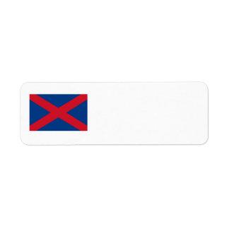 Bandera de Voortrekker Etiqueta De Remitente