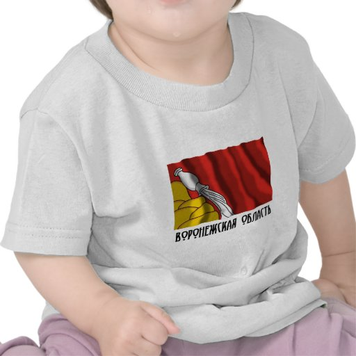 Bandera de Voronezh Oblast Camisetas