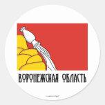 Bandera de Voronezh Oblast Pegatinas Redondas
