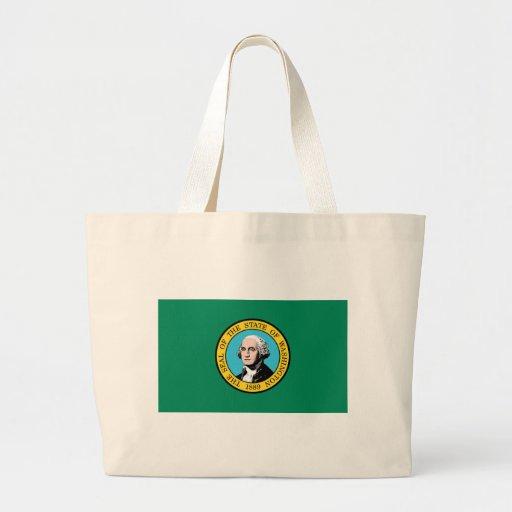 Bandera de Washington Bolsas De Mano